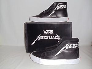 5c9714383aac56 Vans X Metallica SK8 Hi Reisssue Black   White Men s Size 7.5 ...