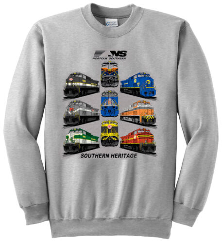 28 Norfolk Southern Southern Heritage Authentic Railroad Sweatshirt