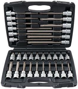 Torx-Steckschluessel-Nuesse-Satz-32-tlg-Innen-Bits-Nuss-Schrauben-Werkzeug-Set-Kfz