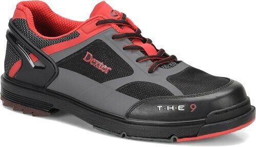 Men/'s Dexter THE 9 HT Black//Grey//Red Interchangeable BowlingShoes Size 6.5 RH//LH