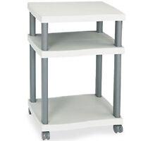 Desk Side Printer Cart Home Office Organizer Mobile Machine Stand Plastic Shelf
