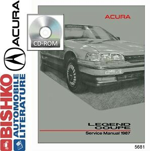 1987 acura legend coupe service shop repair manual cd engine rh ebay com 1988 acura legend service manual acura legend service manual pdf
