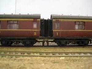 12-x-00-Gauge-Bachmann-Hornby-LMS-Corridor-Connector-Gangway-Bellows-4mm-BR