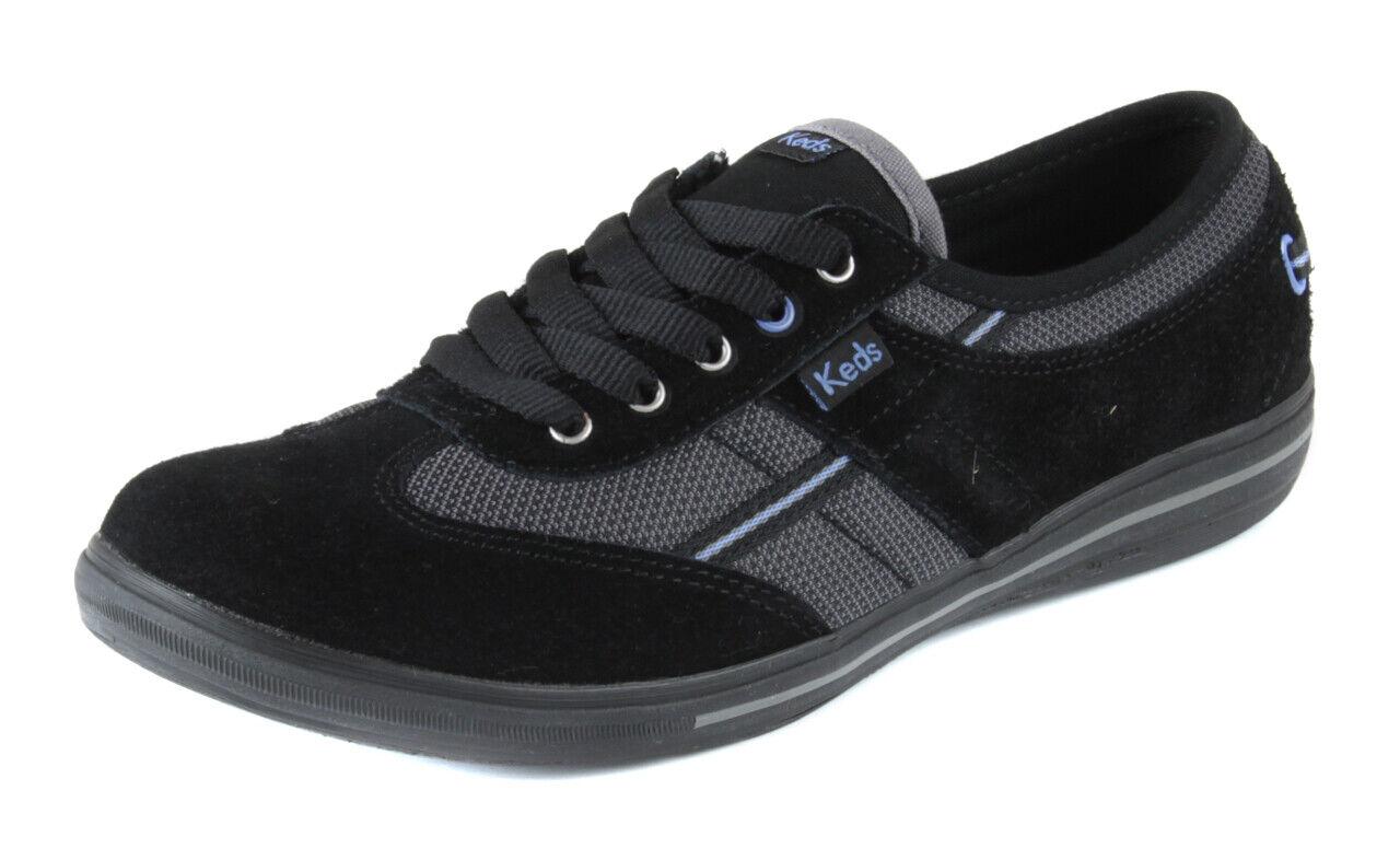Keds Damen Schwarz Blau Wildleder Craze Zeh Turnschuhe Stiefel Schuhe Ret. Neu
