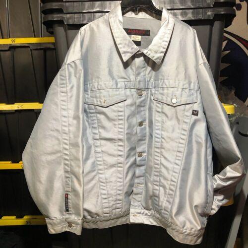 Avirex silver denim jacket.