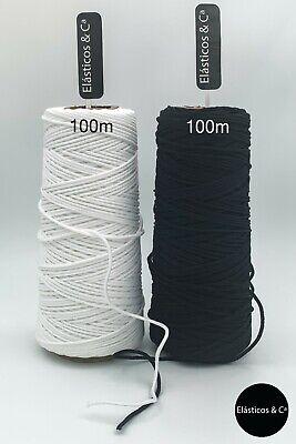 Black elastic 2mm