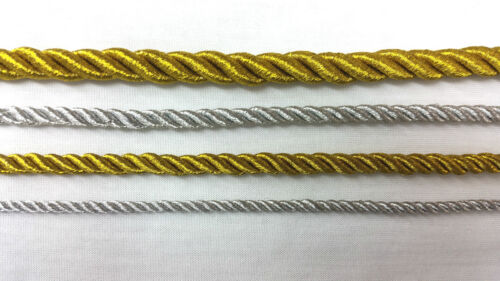 SILVER//GOLD PIPPING STRING METALLIC CORD ROPE