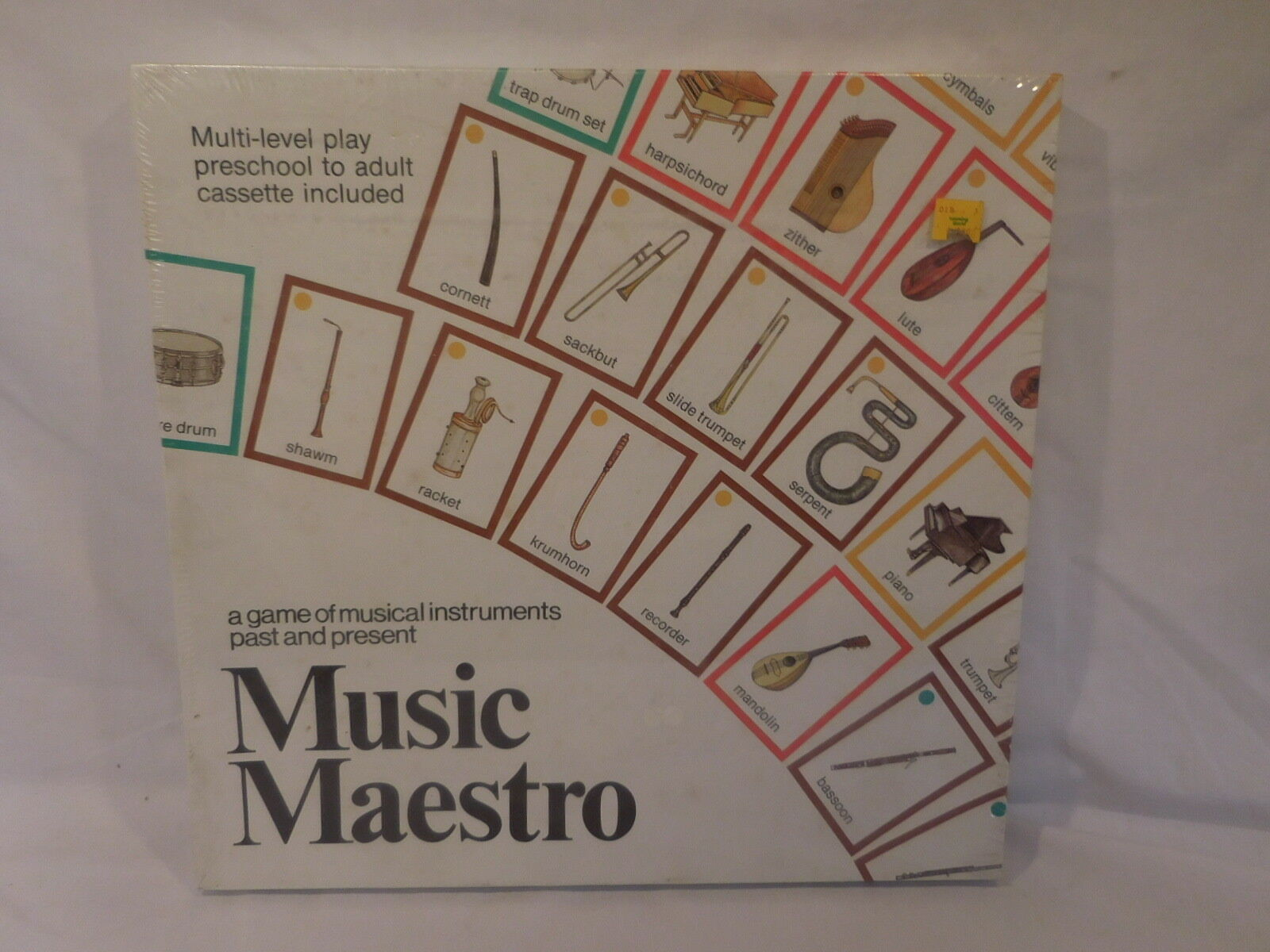 Music Maestro Board Game Musical Instruments Vintage 1982 Aristoplay NEW