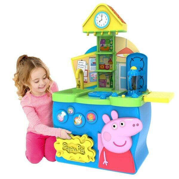 Peppa Pig Kitchen Playset Toy Roleplay Interactive Cooking Food Fun Accessories
