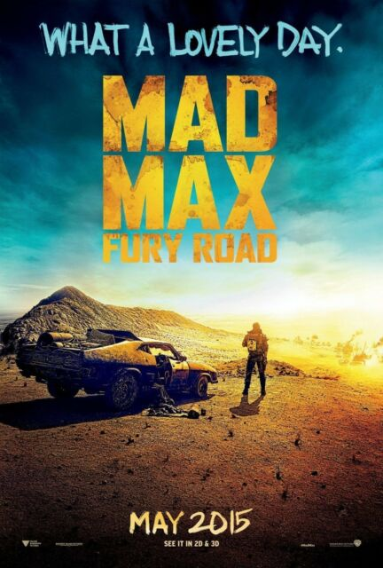 Mad Max Fury Road Double Sided ORIGINAL MOVIE Film POSTER One Sheet Tom Hardy