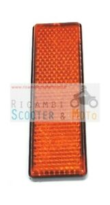 Réflecteurs ambre sur la fourche d'origine Malaguti Drakon 50