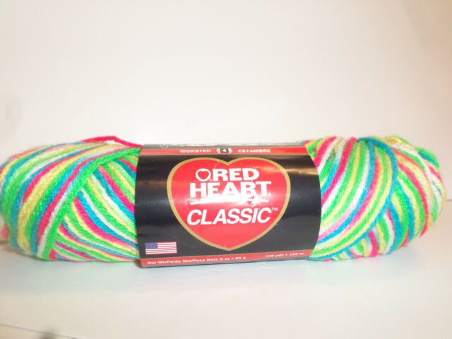 """Red Heart /""""Team Spirit Chunky/"""" Yarn Lot Of 3 Skeins 5 oz. Red-Grey #9988"""