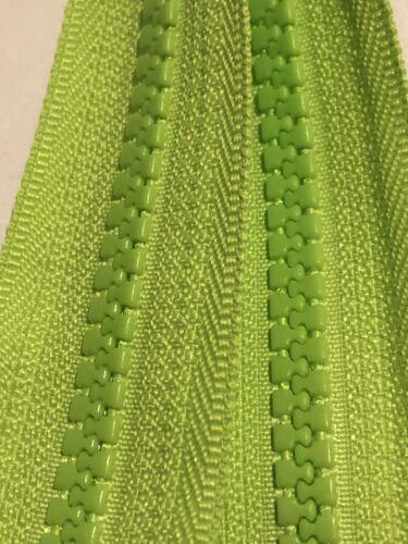 Verde Fluorescente Alta visible cremallera YKK 36 pulgadas 91CM plástico moldeado Extremo Abierto