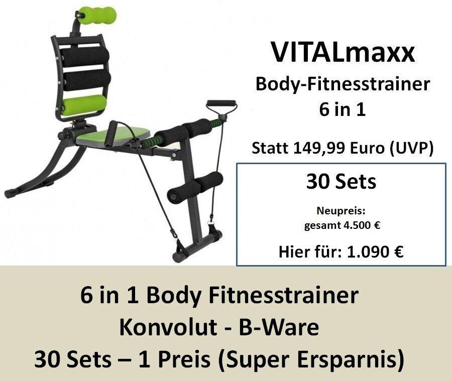 30 x VITALmaxx Body-Fitnesstrainer 6in1 - B-Ware - Fitness Fitness Fitness - Workout - Konvolut 669eda