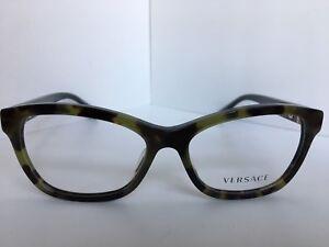 654792fc068e New Versace Mod. 3225-A 5183 Green 54mm Cats Eye Women s Eyeglasses ...
