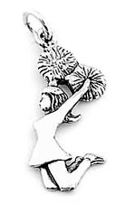 STERLING SILVER JUMPING CHEERLEADER CHARM/ PENDANT