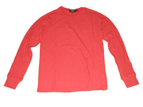 RRL Ralph rosso Lauren Polo rosso Ralph Light Thermal Shirt Small S ecfe26