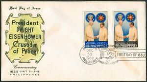1960-Pres-DWIGHT-EISENHOWER-Crusader-For-Peace-Com-IKE-039-s-Visit-to-the-Phil-FDC