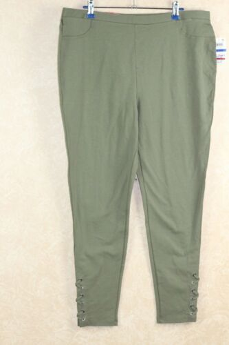 Style Co Mid-Rise Lace-Up Leggings Olive Sprig XL  /_/_/_/_/_/_/_/_/_/_/_/_/_/_/_/_/_/_/_/_/_ R12A1