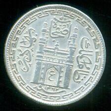 HYDERABAD NIZAM USMAN ALI , 4 ANNA COIN , AH1362 ,SILVER