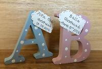 Christening gift- Personalised handmade wooden letter keepsake