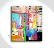 JEAN SANDERS - Bild 80x70 x 4 cm - abstrakt deco line - abstakt bunt handgemalt!