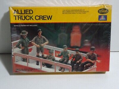 Italeri Testors Allied Truck Crew 1//35 Scale Model Kit #844 1981 FACTORY SEALED