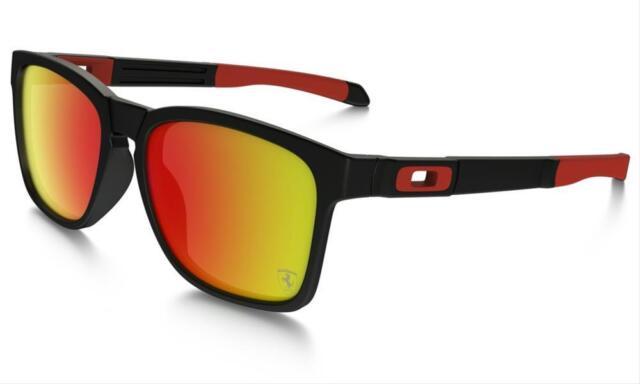 Oakley Mens Catalyst Scuderia Ferrari Collection Sunglasses Black Ruby Iridium For Sale Online Ebay