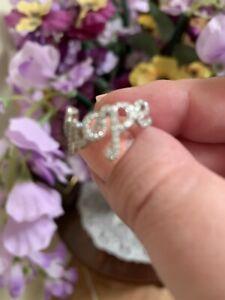 """""""l' Espoir"""" Diamond & Sterling Silver Ring Sz 6-afficher Le Titre D'origine Nous Avons Gagné Les éLoges Des Clients"""