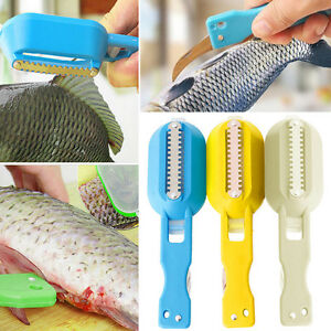 New-Fish-Scale-Skin-Remover-Scaler-Scraper-Cleaner-Kitchen-Tool-Peeler-Kit