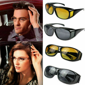 Men Night Vision Driving Anti Glare Eyeglasses HD Vision Wrap Around Glasses