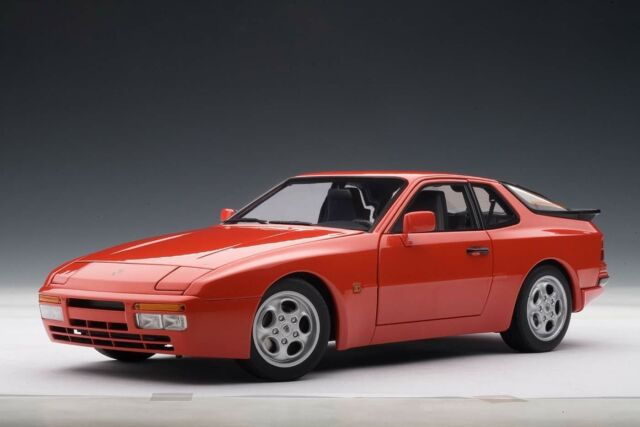 autoart 77957 1 18 porsche 944 turbo 1985 red for sale online | ebay