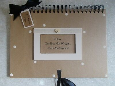 Personalised Handmade A4 Hen Do Bridal Shower Gift Scrapbook Album QUICK POST