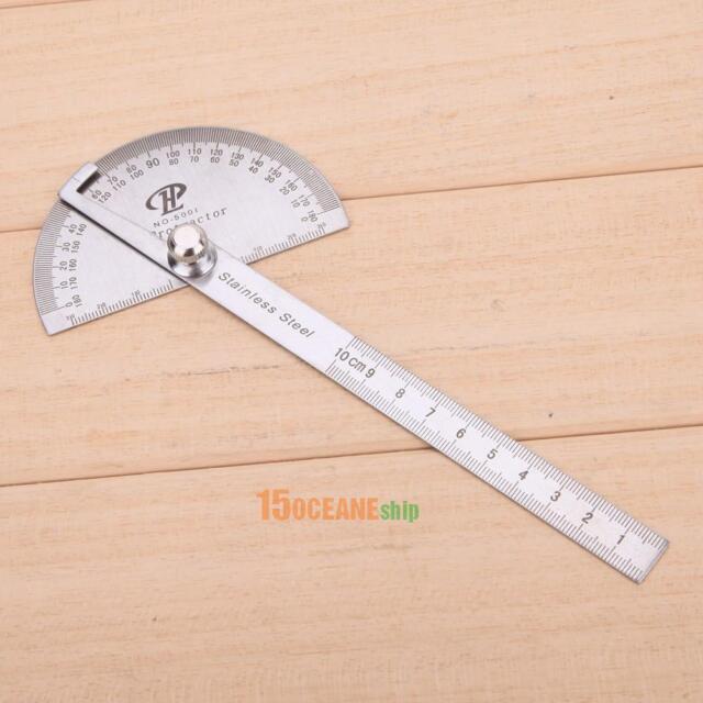180 Grad Winkelmesser Finder Edelstahl Dreh Winkel Lineal Messwerkzeug 10cm