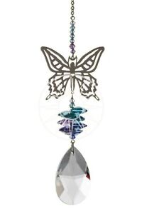 New-Large-Fantasy-Suncatcher-Incorporating-Swarovski-Crystals-Pastel-Butterfly