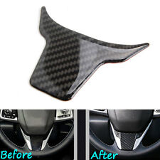 1pc Carbon Fiber Car Steering Wheel Cover Panel Frame Trim For 2016 Honda Civic