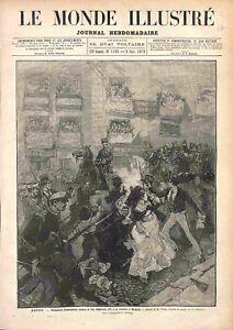 Madrid Attentat Arnarchiste Contre le Roi Alphonse XII d'Espagne GRAVURE 1878 - France - Madrid Anarchist Attack Against King Alfonso XII of Spain Espana France ATTENTION,QUE LA COUVERTURE, PAS LE JOURNAL ENTIER. Just the cover, not newspaper. ANTIQUE PRINTGRAVURE 100 % DÉPOQUE 1878 PORT GRATUIT EUROPE A PARTIR DE 4 OBJETS BUY 4 ITE - France