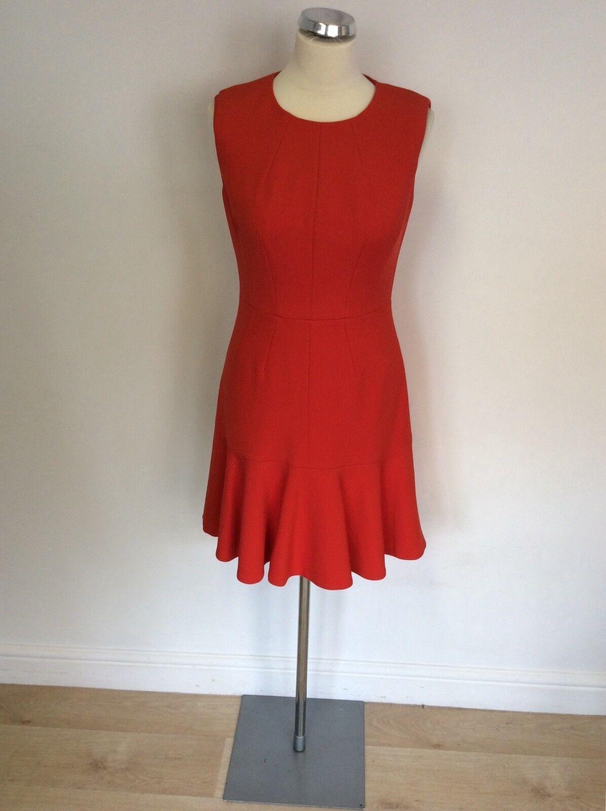 BNWT KAREN MILLEN rot FLIPPY SKIRT DRESS Größe 12 COST