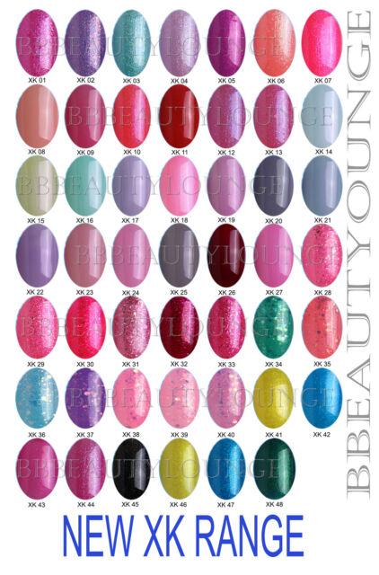 Bluesky XK Range Nail Polish UV/led Soak Off Gel 48 colours 10ML Free P/P