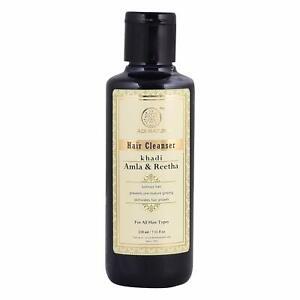 Khadi Natural Pure Herbal Amla & Reetha Shampoo, Anti Dandruff - 210ml