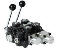 Powermax 30 Gpm Mono-block Directional Control Valve, 2 Spool W/1 Pos Flt