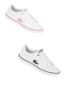 375ad0822 lacoste lerond 318 2 leather trainers kids boys girls womens unisex ...