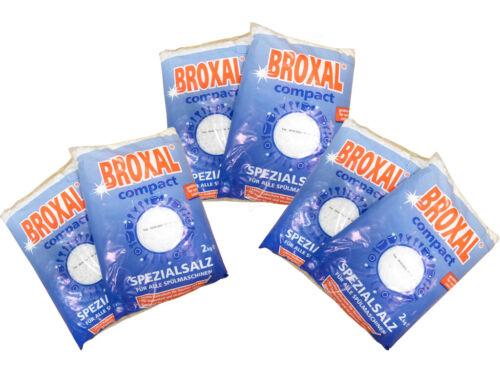 12kg 6x2kg Broxal Spülmaschinensalz per Tutti Lavastoviglie Protezione Calce