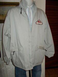 Veste-droite-blouson-coupe-vent-QUIKSILVER-XL-54-56-coton-polyester-beige-brode