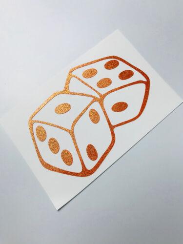Würfel Orange Glitzer Aufkleber Stickerbomb Dub JDM Sticker Oem Tuning Oldschool