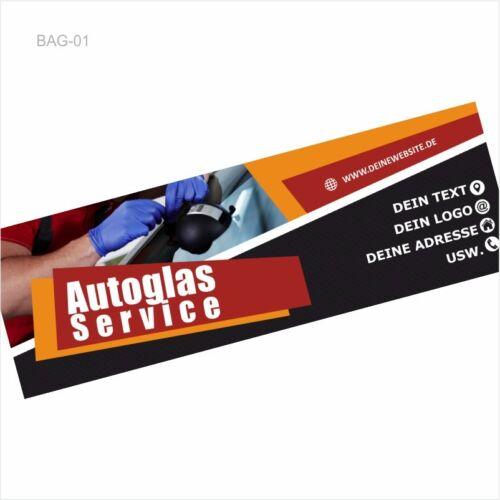 mit AUTOGLAS SERVICE Werbebanner inkl Gestaltung BAG-01