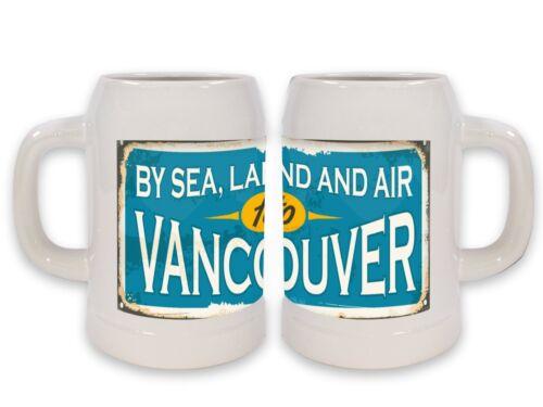 Keramik Bierkrug Reisen Küche Vancouver Kanada Bedruckt