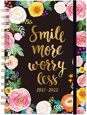 Academic 2021 2022 Hardcover Daily Monthly Planner Day Designer Organizer New