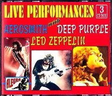 LED ZEPPELIN - AEROSMITH - DEEP PURPLE Live Perfomances Box 3 CD Nuovo RARO