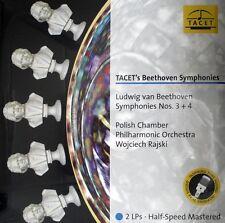 BEETHOVEN  SYMPHONIES 3+4 TACET  L-239  2LP - RAJSKI HALF SPEED MASTERED